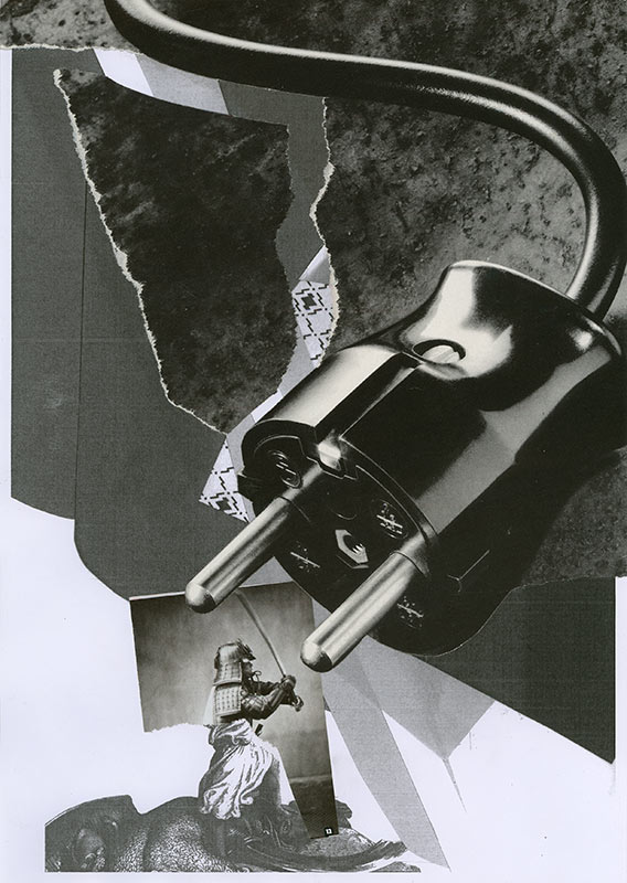 Juliana Ortiz & Markus Uhr . TALKSHOW (07.09.2010)  2010  collage on photocopy  29,6 x 21,0 cm