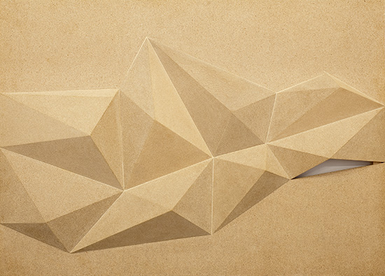 Liviu Dalateanu . Untitled  2010  chipboard  155 x 215 cm