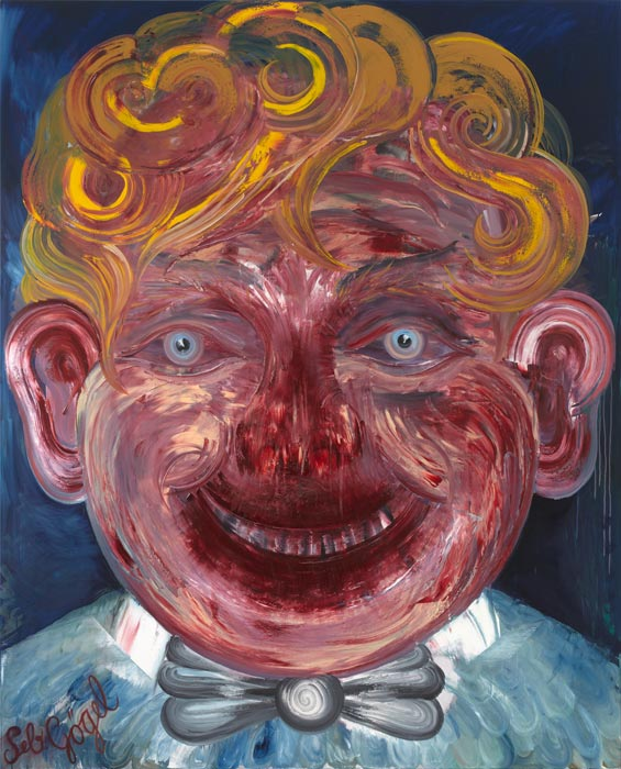 Sebastian Gögel . Zögling, 2012, Öl auf Leinwand, 260 x 200 cm