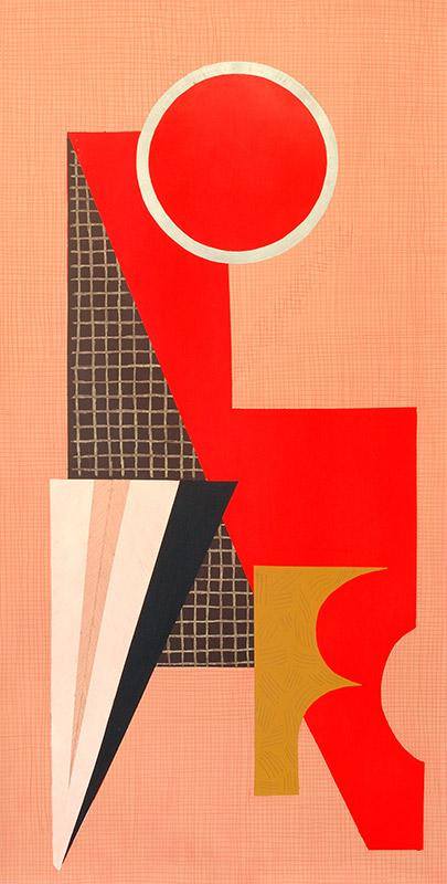 Suse Bauer . Sie gehorcht der Materie, um sie beugen zu können, 2011, Öl, Pastell auf Papier, gerahmt 293 x 152 cm