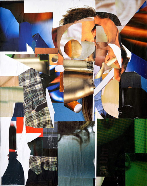 Theo Boettger . Buisnessman, 2013, collage, 174 x 137 cm . Courtesy Galerie Baer & Galerie Emmanuel Post