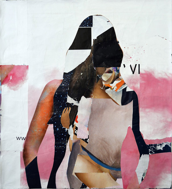 Theo Boettger . Knight, 2013, Collage, 120 x 110 cm . Courtesy Galerie Baer & Galerie Emmanuel Post