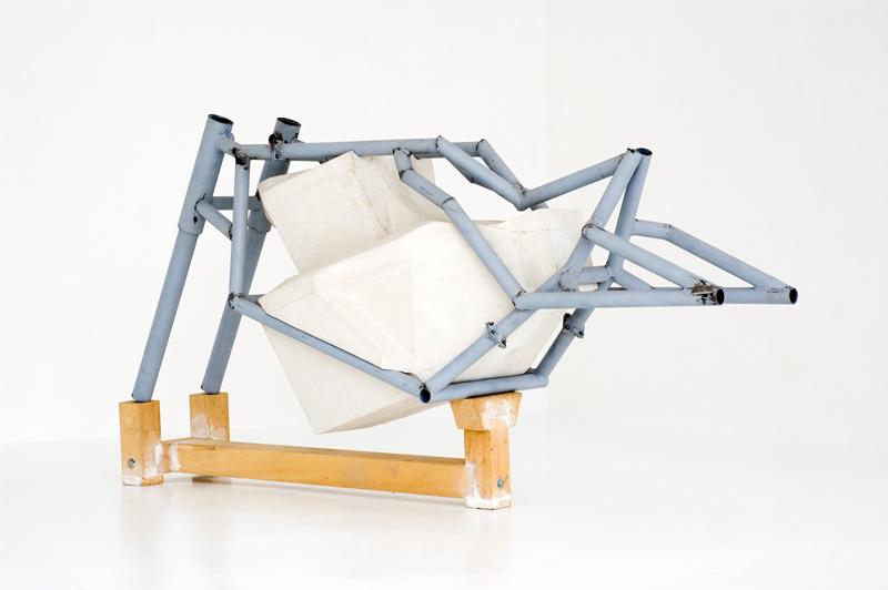 Sebastian Goegel . Torso, 2008, metal, plaster, wood, 112 cm x 60 cm x 210 cm