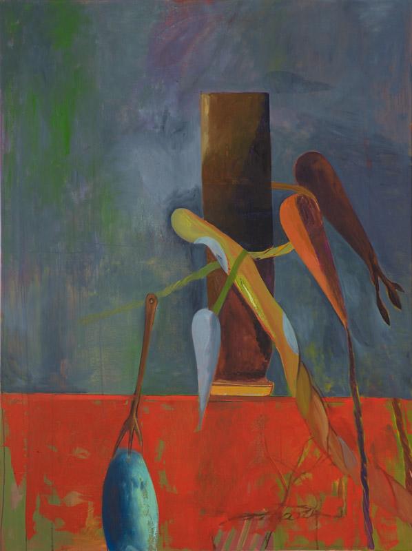 Victor Berezvosky . Pillar, 2013, oil on linen, 160 x 120 cm